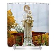 El Santuario De Chimayo Sculpture Garden 5 Shower Curtain