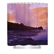 El Tatio Geysers Shower Curtain