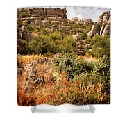 El Torcal Rock Formations Shower Curtain