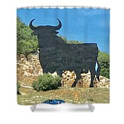 El Toro In The Andalucian Countryside Shower Curtain