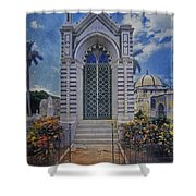 Elaborate Mausoleum  Colon Cemetery Havana Cuba Espada Cemetery Shower Curtain
