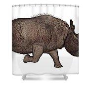 Elasmotherium Shower Curtain