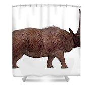 Elasmotherium Side Profile Shower Curtain