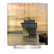 Elation - Leaving For A Cruise Shower Curtain