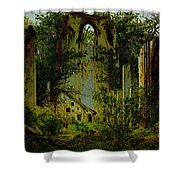 Eldena Ruin Cdf Shower Curtain