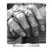 Elderly Hands Shower Curtain