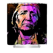 Elderly Hupa Woman Shower Curtain