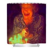 Elderly Joy Shower Curtain