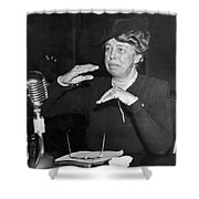 Eleanor Roosevelt At Hearing Shower Curtain