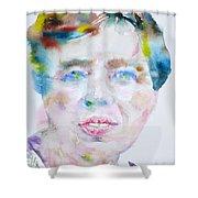 Eleanor Roosevelt - Watercolor Portrait Shower Curtain