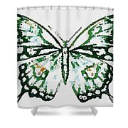 Election 2020 Presidential Candidate Catherien Lott Usa Green Butterfly Shower Curtain
