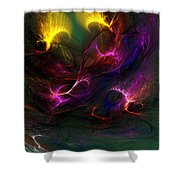 Electric Abstract 052510 Shower Curtain