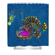 Electric Angler Fish Shower Curtain
