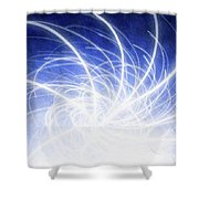 Electric Beams Shower Curtain
