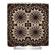 Electric Blue Earth Stars Shower Curtain