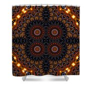 Electric Blue Midway Shower Curtain