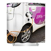 Electric Car Shower Curtain
