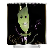 Electric Cat Shower Curtain