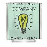 Electric Company Vintage Monopoly Board Game Theme Card Shower Curtain