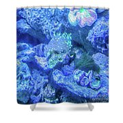 Electric Coral Shower Curtain