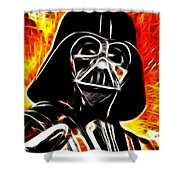 Electric Darth Vader Shower Curtain