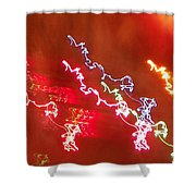 Electric Dazzle Abstract Shower Curtain