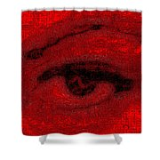 Electric Eye Shower Curtain by Eikoni Images