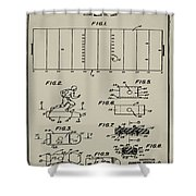 Electric Football Patent 1955 Aged Gray Shower Curtain