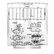 Electric Football Patent 1955 Shower Curtain