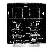 Electric Football Patent 1955 Black Shower Curtain