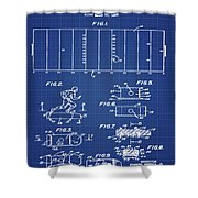 Electric Football Patent 1955 Blueprint Shower Curtain