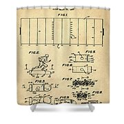 Electric Football Patent 1955 Sepia Shower Curtain