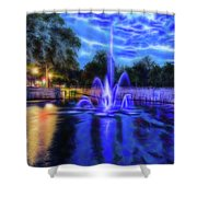 Electric Fountain  Shower Curtain