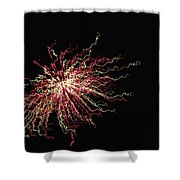 Electric Galaxy Shower Curtain