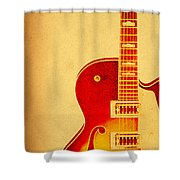 Electric Grunge Shower Curtain