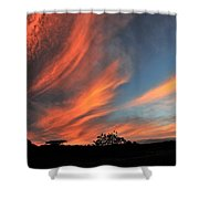 Electric Hawaiian Sunset Big Island Hawaii Shower Curtain
