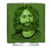 Electric Jerry Olive - T-shirts-etc Shower Curtain