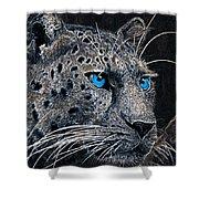 Electric Leopard Shower Curtain