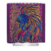 Electric Little Fish Shower Curtain