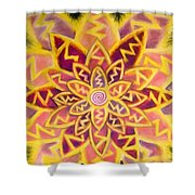 Electric Lotus Shower Curtain