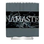 Electric Namaste Shower Curtain