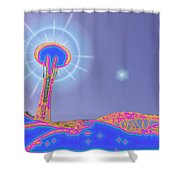 Electric Needle Shower Curtain