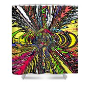 Electric Ripples Shower Curtain