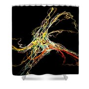 Electric Shock Shower Curtain