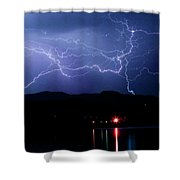 Electric Skies  Shower Curtain