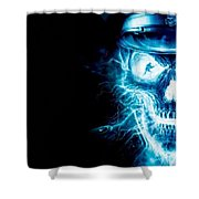 Electric Skull Shower Curtain