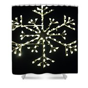 Electric Snowflake Shower Curtain