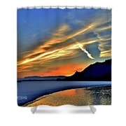 Electric Sunrise Shower Curtain