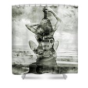 Electric Sunset 3 Shower Curtain