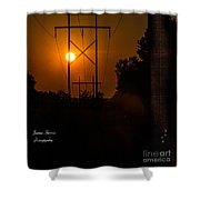Electric Sunset Shower Curtain